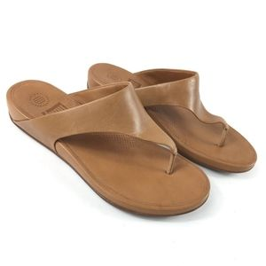 Fitflop Leather Thong Sandals SIZE 8